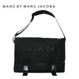 マークバイマークジェイコブス バッグ MARC BY MARC JACOBS ショルダーバッグ MBMJ M0005602 Davey Messenger Color 001 ブラック Black メンズ 革