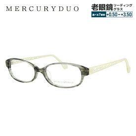 【選べる無料レンズ → PCレンズ・伊達レンズ・老眼鏡レンズ】マーキュリーデュオ メガネフレーム 伊達メガネ アジアンフィット MERCURYDUO MDF8017-4 52サイズ オーバル レディース