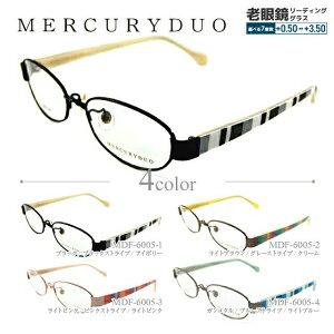 【選べる無料レンズ → PCレンズ・伊達レンズ・老眼鏡レンズ】 マーキュリーデュオ メガネフレーム MERCURYDUO MDF6005-1/MDF6005-2/MDF6005-3/MDF6005-4 UVカット レディースブランド