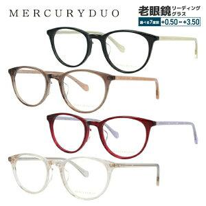 【選べる無料レンズ → PCレンズ・伊達レンズ・老眼鏡レンズ】マーキュリーデュオ メガネフレーム 伊達メガネ MERCURYDUO MDF8042 全4カラー 50サイズ ボストン レディース ラインストーン