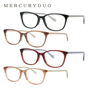 【選べる無料レンズ → PCレンズ・伊達レンズ・老眼鏡レンズ】マーキュリーデュオ メガネフレーム 伊達メガネ MERCURYDUO MDF8043 全4カラー 51サイズ ウェリントン レディース ラインストーン