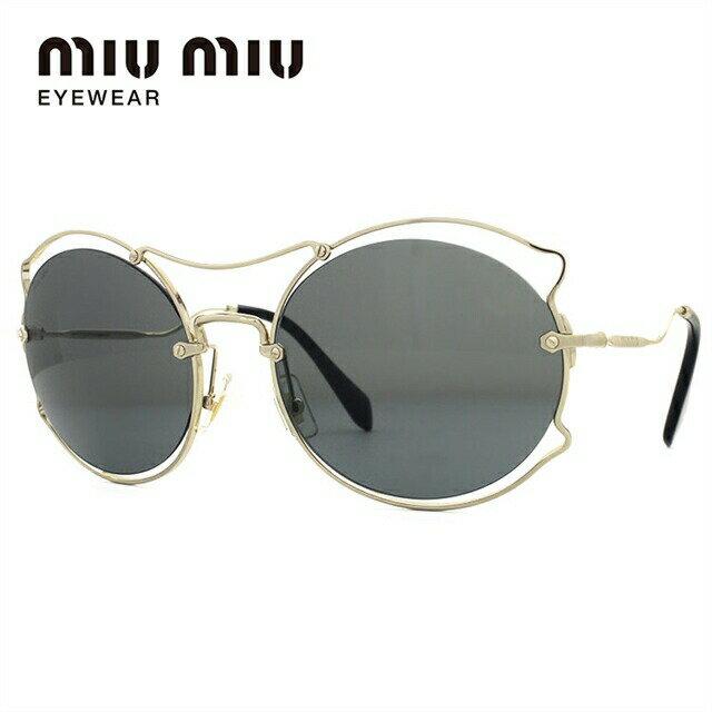 ミュウミュウ サングラス miu miu MU50SS ZVN9K1 57サイズ 国内正規品 オーバル ユニセックス メンズ レディース