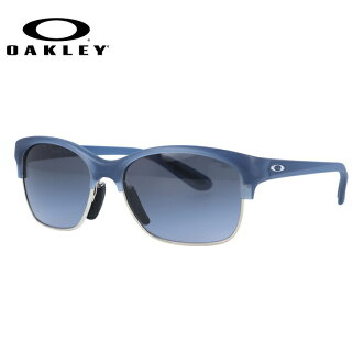奥克利太阳眼镜OAKLEY RSVP OO9204-08 Frosted Blue Daisy/Black Grey Gradient女士体育奥克利UV cut常规合身