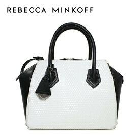 レベッカミンコフ ショルダーバッグ/ハンドバッグ REBECCAMINKOFF HS15FOLS16 004 ブラック/ホワイト BLACK/WHITE MINI PERRY SATCHEL 2WAYバッグ Rebecca Minkoff レディース 革