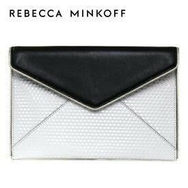 レベッカミンコフ クラッチバッグ REBECCAMINKOFF HS15FOLC17 004 ブラック/ホワイト BLACK/WHITE LEO CLUTCH Rebecca Minkoff レディース 革
