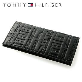 トミーヒルフィガー 財布 TOMMY HILFIGER 長財布 31TL19X018-001(0092-5645/01) ブラック (小銭入れ有) 財布 ウォレット サイフ レザー(革) メンズ 男性 トミー シンプル