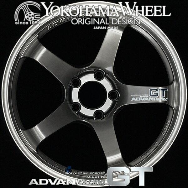 ヨコハマ アドバン レーシング GT アルミホイール 18×8.0J 5/114.3 +45 マシニング&レーシングメタルブラック