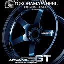 ヨコハマ アドバン レーシング GTプレミアム アルミホイール 18×9.5J 5/114.3 +12 レーシングチタニウムブルー+マシニングロゴ
