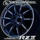 ADVAN Racing RZ2 RZII アルミホイール 18×9.5J 5/114.3 +35 レーシングインディゴブルー&リング