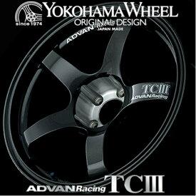 ヨコハマ アドバン レーシング TC3 TCIII アルミホイール 18×9.5J 5/114.3 +35 ダークガンメタリック