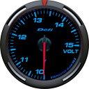 デフィ Defi レーサーゲージ (Racer Gauge) Φ60 ブルー 電圧計