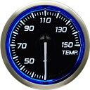 デフィ メーター レーサーゲージN2 (Racer Gauge) Φ52 ホワイト(文字外周とリング部分はブルー) 温度計 (油温計・水…