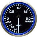 デフィ メーター レーサーゲージN2 (Racer Gauge) Φ60 ホワイト(文字外周とリング部分はブルー) ターボ計 送料無料 …