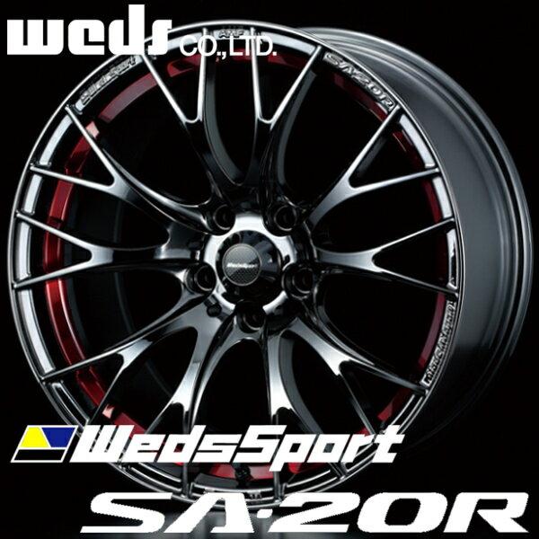 ウェッズ ウェッズスポーツ SA20R SA-20R アルミホイール 18×8.5J 5/100 +45 レッドライトクローム2