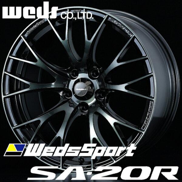 ウェッズ ウェッズスポーツ SA20R SA-20R アルミホイール 17×7.5J 5/114.3 +45 ウォースブラッククリア
