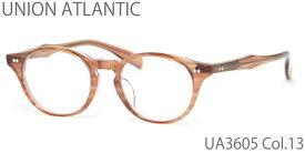 【14時までのご注文は即日発送】UA3605 13 47サイズ UNION ATLANTIC (ユニオンアトランティック) メガネ 日本製 丸メガネ メンズ レディース 【伊達メガネ用レンズ無料!!】【あす楽対応】