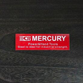 【最大15%OFFクーポン!】MERCURY MCR ステッカー TAG RED シール 車 バイク おしゃれ かっこいい シンプル メール便 即日出荷 新入荷