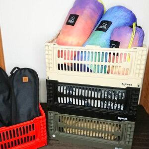 【ポイントUP+クーポン】SLOWER フォールディングコンテナ Bask Large 折りたたみ 軽量 カラー ボックス 収納 アウトドア インドア 頑丈 物入れ