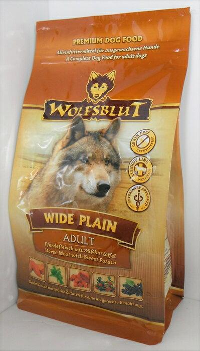 【ドッグフード】 ウルフブラット(WOLFSBLUT) グレインフリー ワイドプレーン アダルト 成犬・全犬種用 500g