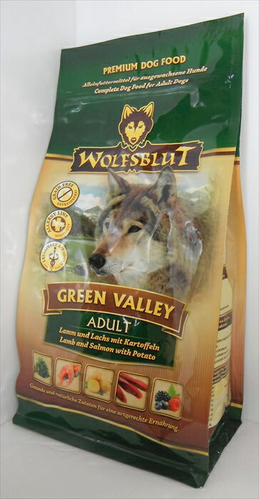 【ドッグフード】 ウルフブラット(WOLFSBLUT) グレインフリー グリーンバレー アダルト 成犬・全犬種用 500g