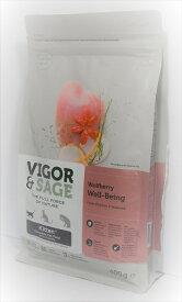 【キャットフード】ビゴー&セージ(VIGOR & SAGE)グレインフリー ウルフベリー(クコの実) ウェルビーイング 仔猫・全猫種用 400g