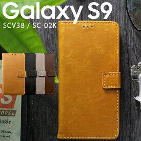 Galaxy S9 ケース 手帳型 ケース アンティークな色合いがオシャレなレザーケース SUMSUN ギャラクシー サムスン スマホ カバー SCV38 SC-02K 手帳 スマホカバー レトロ PUレザー 手帳カバー 色合い おしゃれ スマホケース 大人な雰囲気 かっこいいケース (A)