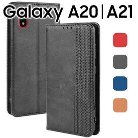 Galaxy A20 ケース 手帳 ケース SC-02M SCV46 おしゃれ アンティーク オシャレ レザー 手帳型 カバー スマホケース カバー 手帳カバー カード入れ レザー 革 合革 おしゃれ シンプル