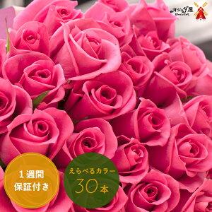 ◆色がえらべる◆バラ30本の花束 送料無料 薔薇 ブーケ 記念日 誕生日 結婚記念 お祝い 入学 入園 還暦 癒し 赤 ピンク 黄色 ギフト プレゼント 切花 遅れてゴメンね母の日 早