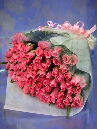 ◆バラ100本の花束