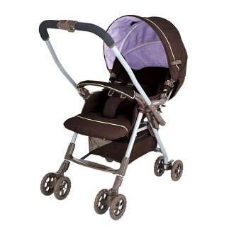 Aprica stroller Torte gingham Brown
