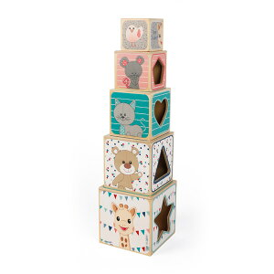 Janod(ジャノー)キリンのソフィー・タワーブロック【送料無料沖縄・一部地域を除く】