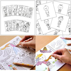 コクヨS&T【メール便送料無料】シールに色が塗れるきせかえブックきせかえカーニバル(小林マキ)KE-WC49