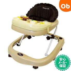 【あす楽対応】ベビークラフト ベビーウォーカー ブラウン 歩行器 角型 Babycraft【ラッピング不可商品】【送料無料 沖縄・一部地域を除く】
