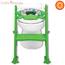 リトルプリンセス かえるのふかふかステップ式トイレトレーナー グリーン【送料無料 沖縄・一部地域を除く】