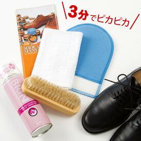 靴 クリーナー ジュエル お手軽&簡単 靴磨きセット シューケアセット エナメル 合皮 スタンスミス