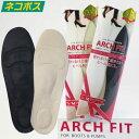 アーチフィット フォーブーツ&パンプス ブーツ用前滑りインソール (中敷き) 土踏まずを優しく支えるアーチパッド 滑り…