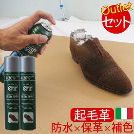 GT スエード リノベイター2本セット 起毛革 靴用 補色 防水 スプレー ヌバック