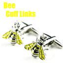 【ネコポスは送料無料 宅配便780円】Bee 蜂デザイン カフスボタンカフスリンクス カフリンクス