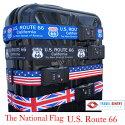 【レビューでメール便送料無料】TSAロック付きスーツケースベルトかっこよく、目立つデザインで、自分のスーツケースの目印にも最適です!ルート66Route66アメリカイギリス国旗星条旗ユニオンジャック【RCP】