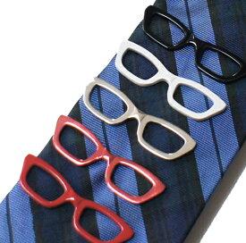 メガネモチーフネクタイピン メガネ型タイピン ネコポスは送料無料