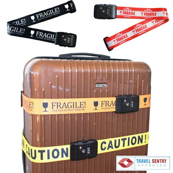 TSAロック付きスーツケースベルト アメリカ旅行に特に最適ユニークメッセージ ネコポスは送料無料
