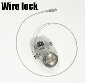 楕円型コンパクトハンディーワイヤーロック ハンディロック 3桁ダイヤルロック ワイヤー錠 スキースノーボードの盗難防止にも ネコポスは送料無料