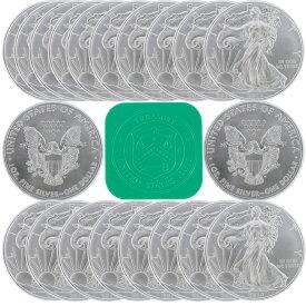 アメリカ イーグル銀貨 20枚オリジナルチューブセット 2020年 純銀 40.6mm 31.1g 新品未使用