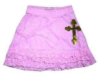 Race miniskirt (lavender) fs3gmfs2gm with wild Fox white label spangles