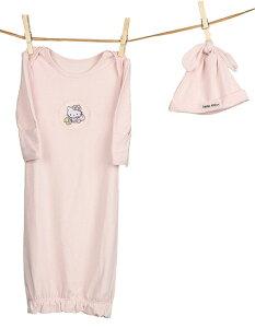 ベアフットドリームス×ハローキティ(Barefoot Dreams)ベビーTシャツ&ハット2点セット/長肌着(3カ月〜12か月程度)【あす楽対応_関東】