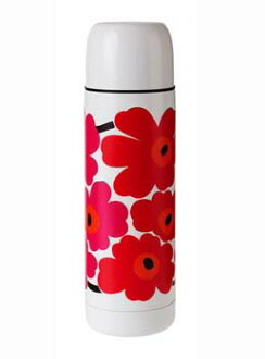 Marimekko) Marimekko unikko 不锈钢保温瓶 / 热水瓶 / 红 / 粉色 (UNIKKO 热水瓶)