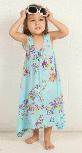 【子供服】リトルジリア(Little Gillia)花柄キッズマキシワンピース/フラワー柄シューティングスタードレス(ブルー)【あす楽対応_関東】