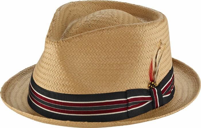 【M、XLサイズ】ニューヨークハット(New York Hat)リボン&フェザー付き中折れストローハット/T-Drop Fedora【正規品】【あす楽対応_関東】02P28Sep16【楽ギフ_包装】【あす楽_土曜営業】