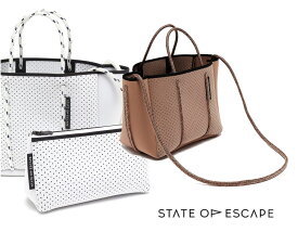 State of Escape(ステイトオブエスケープ)ショルダー&トートバッグ/プチエスケープトートバッグ/PETITE ESCAPE tote bag/ミニサイズネオプレンバッグ/ホワイト、ピンク【あす楽対応_関東】