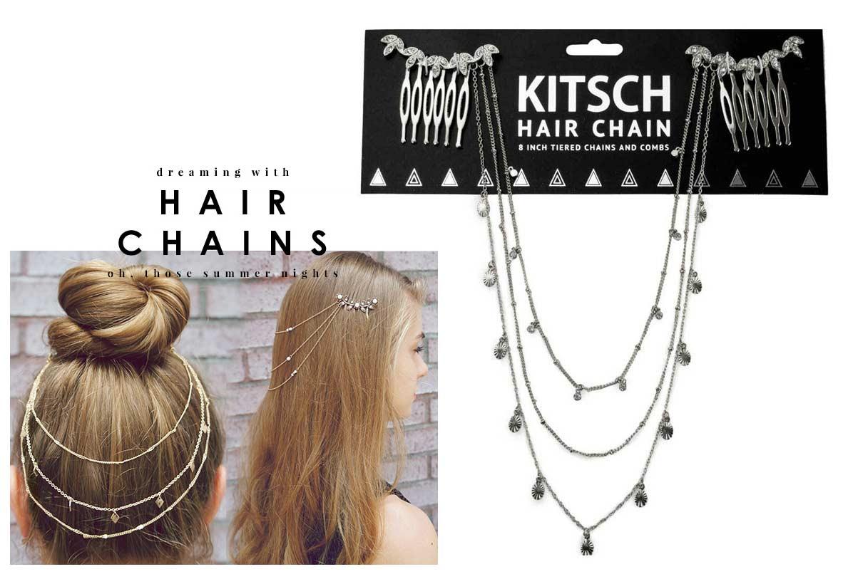 Kitsch(キッチュ)ラインストーンリーフヘアチェーン/ヘアアクセサリー/Leaf Hair Chain/シルバー【正規品】【あす楽対応_関東】02P28Sep16【楽ギフ_包装】【あす楽_土曜営業】【メール便対象】
